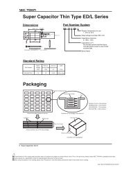Super Capacitor Thin Type ED/L Series Packaging