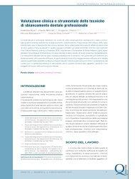 Valutazione clinica e strumentale delle tecniche di sbiancamento ...