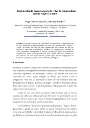 Implementando gerenciamento de redes de ... - Zabbix Brasil