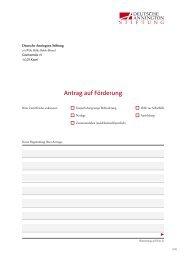 Antrag auf Förderung - Deutsche Annington Stiftung