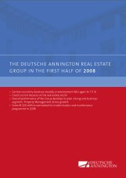 The DeuTsche AnningTon ReAl esTATe gRoup in The fiRsT hAlf of ...