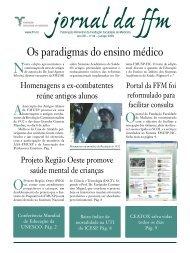 jornal da ffm - Fundação Faculdade de Medicina