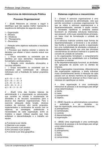 Exercícios de Administração Pública _prof. Jorge_ finalizado - CETEC