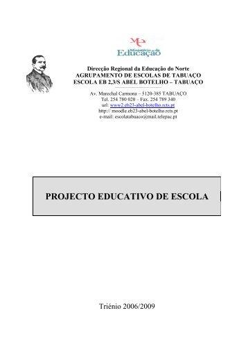 PROJECTO EDUCATIVO DE ESCOLA - Escola Tabuaço