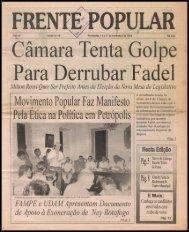 Movimento Popular Faz Manifesto Pela Ética na Política em Petrópolis