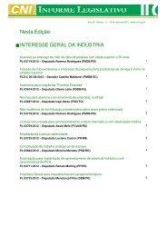 Nesta Edição: INTERESSE GERAL DA INDÚSTRIA - ABCE