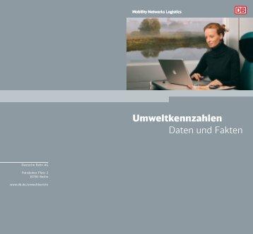 Umweltkennzahlen - Deutsche Bahn  AG