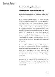 Zwischenmitteilung 2. Hj. 2010 - Deutsche Balaton AG