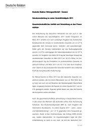 Zwischenmitteilung 1. Hj. 2011 - Deutsche Balaton AG