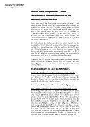 Zwischenmitteilung 1. Hj. 2009 - Deutsche Balaton AG