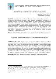A Hermenêutica simbólica e o fenômeno religioso - Instituto de ...