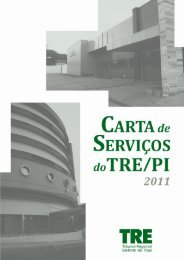 PDF - Carta de Serviços - Tribunal Regional Eleitoral do Piauí