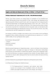 Hinweise zu den Rechten der Aktionäre im Sinne - Deutsche ...