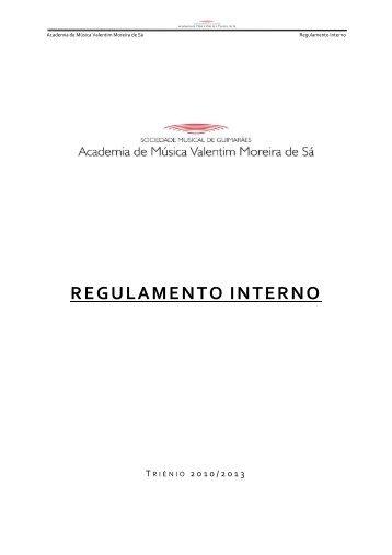 REGULAMENTO INTERNO - Sociedade Musical de Guimarães