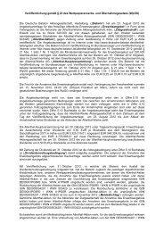 Veröffentlichung gemäß § 23 des Wertpapiererwerbs - Deutsche ...