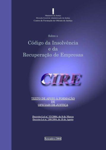 Código da Insolvência e da Recuperação de Empresas - DGAJ