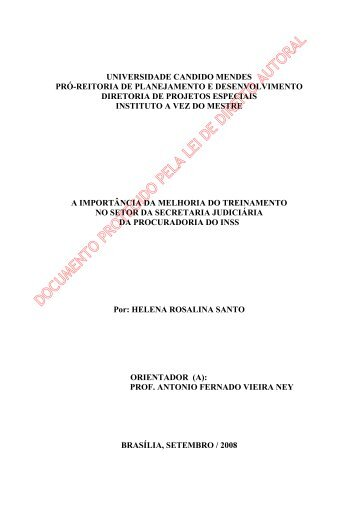 helena rosalina santos - AVM Faculdade Integrada