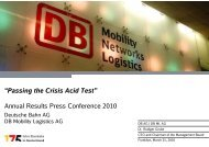 Annual Results Press Conference 2010 - Deutsche Bahn  AG