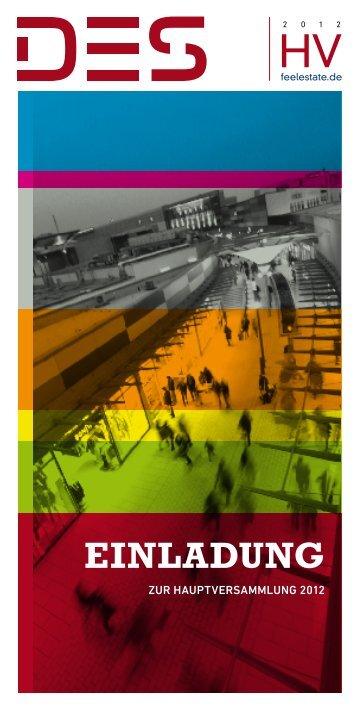 Tagesordnung/Einladung zur Hauptversammlung 2012 - Deutsche
