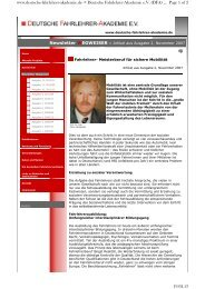 Deutsche Fahrlehrer-Akademie eV (DFA) ... 19.02.13