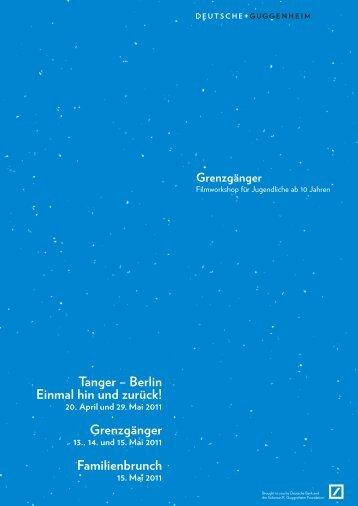 Kinderprogramm (pdf) - Deutsche Guggenheim