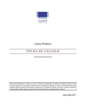 Folha de Calculo.pdf - Universidade Aberta