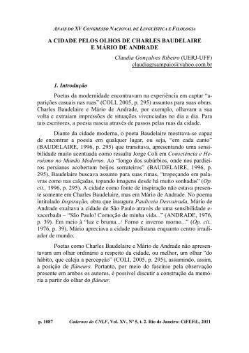 A CIDADE PELOS OLHOS DE CHARLES BAUDELAIRE E ... - CiFEFiL
