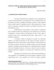 VIOLÊNCIA URBANA - Rede de Estudos do Trabalho