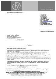 Rundbrief März 2013 - Deutscher Frauenring eV