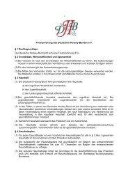 Finanzordnung des DHB - Deutscher Hockey Bund e.V.