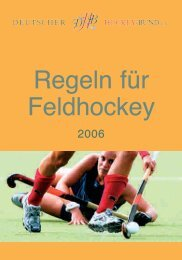Feld-Regeln 2006 - Deutscher Hockey Bund e.V.