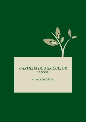 CARTILHA AGRICULTOR A4 COM DESENHOS ... - Semace