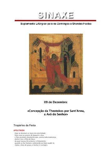09 de Dezembro: «Concepção da Theotokos por Sant ... - Ecclesia