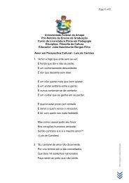 Amor em Perspectiva Cultural - Luís de Camões - Unifap
