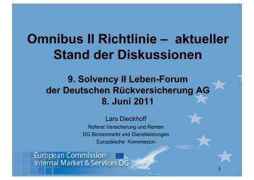 Omnibus II Richtlinie – aktueller Stand der ... - deutscherueck.de