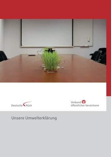 Umwelterklärung 2008 - deutscherueck.de