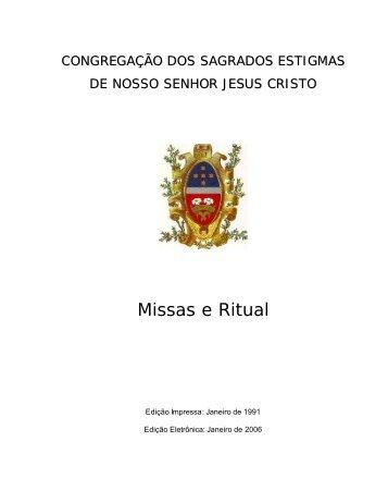 Missas e Ritual - Congregação dos Sagrados Estigmas