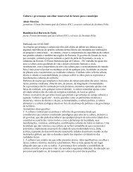Cultura e governança: um olhar transversal de futuro ... - Instituto Pólis