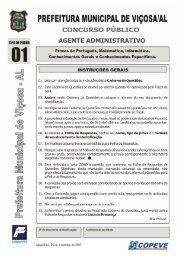 Prova - Agente Administrativo - Tipo 1 - Copeve