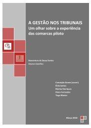 a gestão dos tribunais: um olhar sobre a experiência das comarcas ...