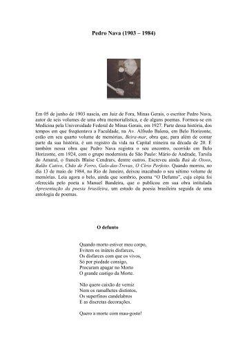 Pedro da Silva Nava nasceu em Juiz de Fora (MG) no ... - Blog do Uni