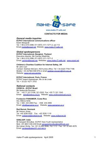 National contacts for media - make-IT-safe