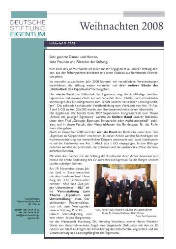 Infobrief II 2008 - Deutsche Stiftung Eigentum