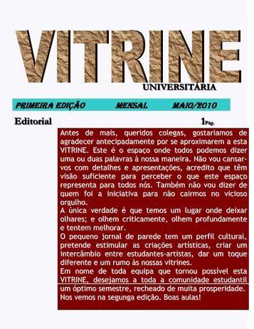 Vitrine Universitária nº 1