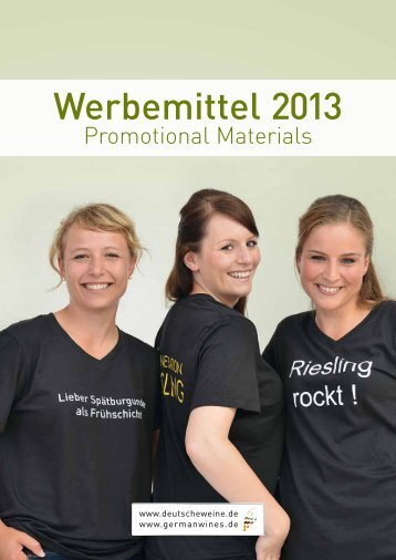 Werbemittel 2013 - Deutsches Weininstitut