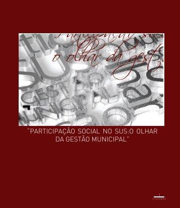 Cartilha - Participação Social no SUS: O olhar da Gestão Municipal