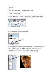 """Tutorial Como mudar a cor dos olhos no Paint.net 1º Abra o """"paint ..."""