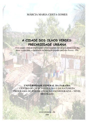 A cidade dos olhos verdes - Universidade Federal da Paraíba