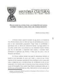 pelos olhos da literatura - GT Nacional de História Cultural