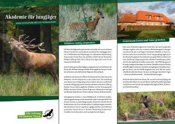 Akademie für Jungjäger - Deutsche Wildtier Stiftung